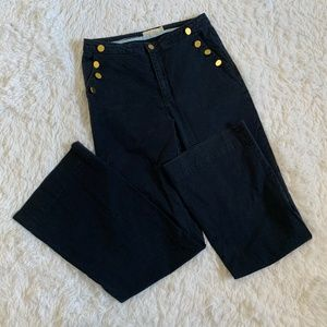 Holly & Whyte by Lindex Navy High Rise Flare Pants